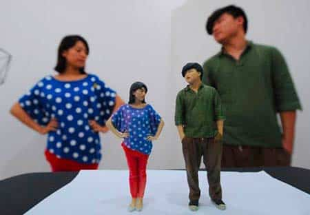 realistic 3D figurines from a 3D scan
