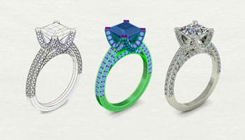 3D scan jewelry to make a 3D model